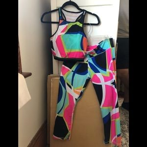 Fabletics Neon Geometric Set